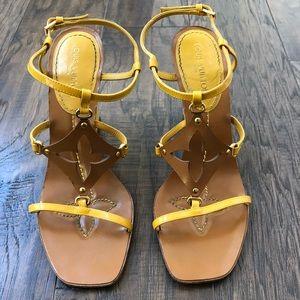 Louis Vuitton yellow sandals